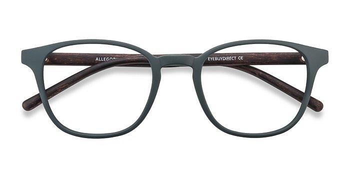 Dark Green Allegory -  Plastic Eyeglasses