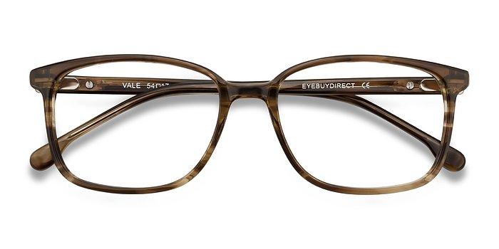 Striped Brown Vale -  Acetate Eyeglasses