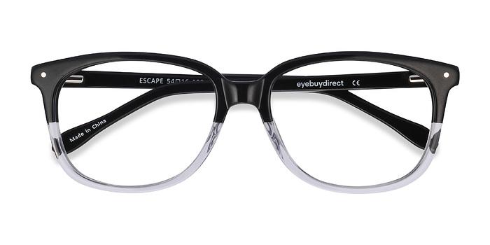 Clear Black Escape -  Classic Acetate Eyeglasses