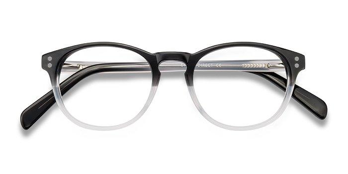 Clear Black Split -  Acetate Eyeglasses