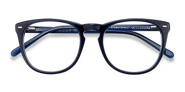 Navy Divina -  Acetate Eyeglasses