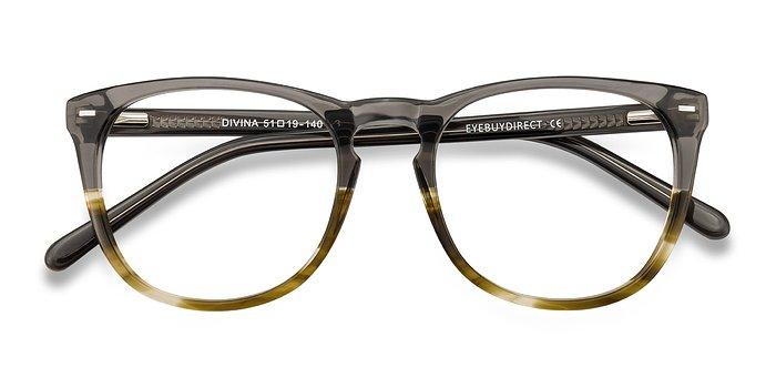 Gray Brown Divina -  Acetate Eyeglasses