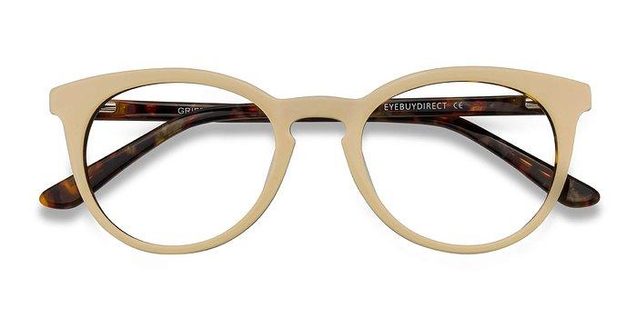 White Floral Griffin -  Acetate Eyeglasses