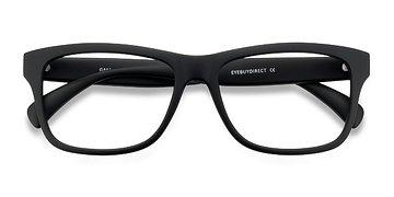 Matte Black Gamble -  Plastic Eyeglasses