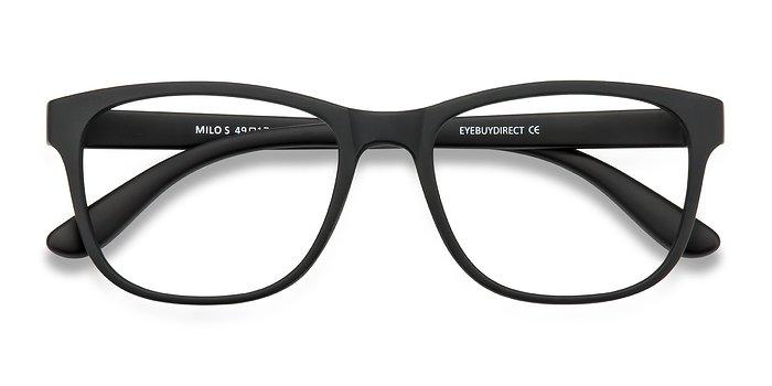 matte black milo plastic eyeglasses