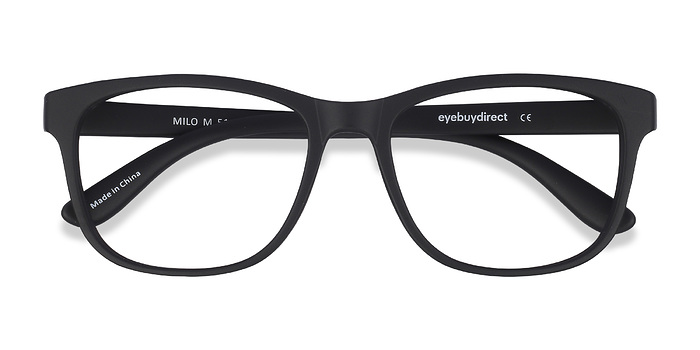 Matte Black Milo -  Plastic Eyeglasses
