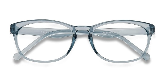 Clear Blue Drums -  Plastic Eyeglasses