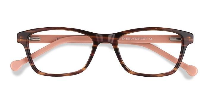 Brown striped Shallows -  Acetate Eyeglasses