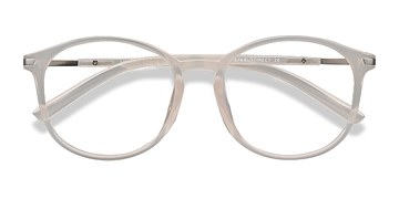 Clear White Lindsey -  Plastic Eyeglasses