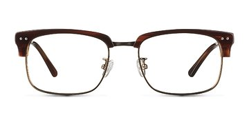 Striped Brown The Woods -  Designer Acetate Eyeglasses