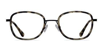 Matte Tortoise Trapeze -  Designer Acetate Eyeglasses