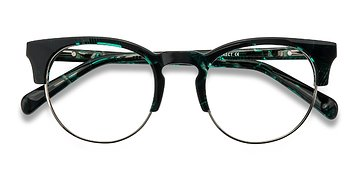 Green Floral Macaw -  Acetate Eyeglasses