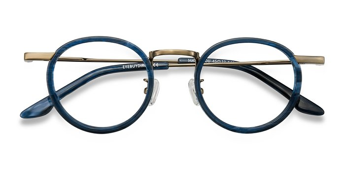 Blue Maybe You -  Vintage Acetate Eyeglasses