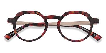 Speckled rose Phantasm -  Vintage Acetate Eyeglasses