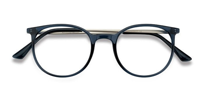 Clear Cobalt Marilou -  Metal Eyeglasses