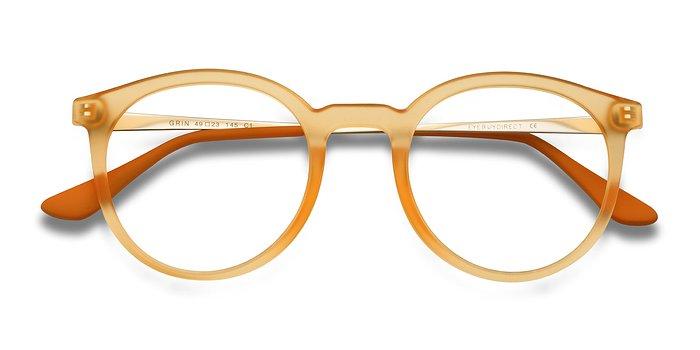 Matte Yellow Grin -  Metal Eyeglasses