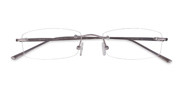 Gunmetal Connie -  Lightweight Metal Eyeglasses