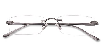 Gunmetal Courtney -  Designer Metal Eyeglasses