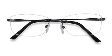 Black Benson -  Lightweight Metal Eyeglasses