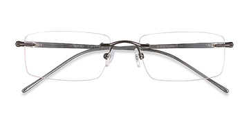 Gunmetal/Gray Pickering -  Metal Eyeglasses