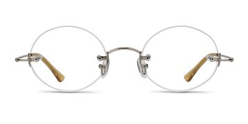 Silver  Silver Line -  Metal Eyeglasses
