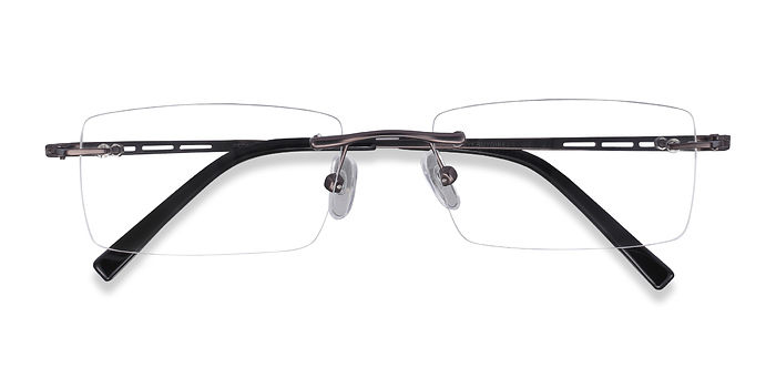Gunmetal Percy -  Metal Eyeglasses