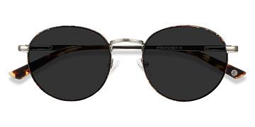 Tortoise Silver Saigon -  Metal Sunglasses