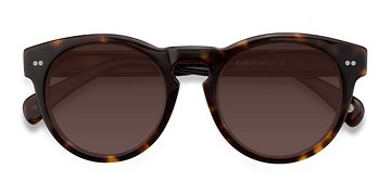 Brown/Tortoise Penelope -  Plastic Sunglasses