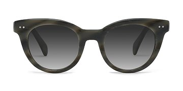 Gray Striped Divine -  Acetate Sunglasses