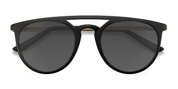 Black Benicia -  Metal Sunglasses
