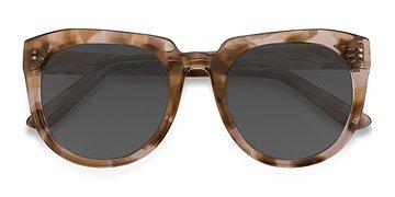 Brown Floral Laohu -  Acetate Sunglasses