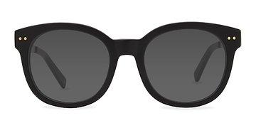 Matte Black Till Sunset -  Acetate Sunglasses