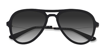 Matte Black Riot -  Acetate Sunglasses