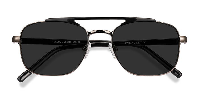 Black Gunmetal Decode -  Acetate Sunglasses