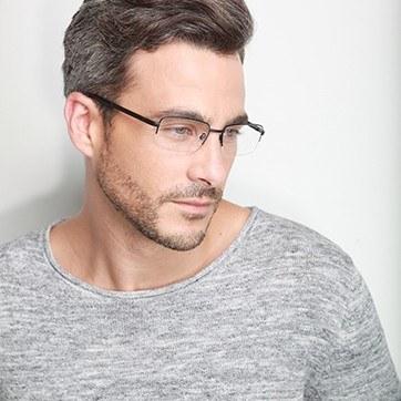 Black Axis -  Metal Eyeglasses - model image