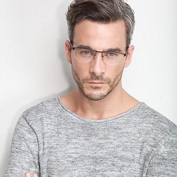 Black Lake -  Lightweight Titanium Eyeglasses - model image