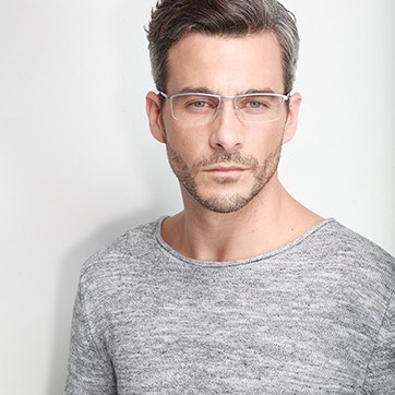 Gray Lake -  Lightweight Titanium Eyeglasses - model image