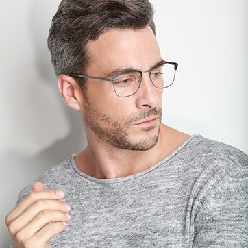 Gunmetal Absolute -  Metal Eyeglasses - model image