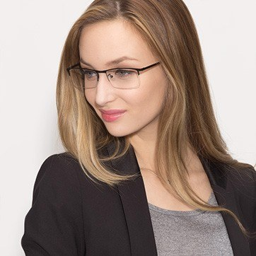 Black Vega -  Metal Eyeglasses - model image