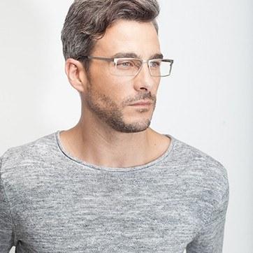 Silver Cristian -  Metal Eyeglasses - model image