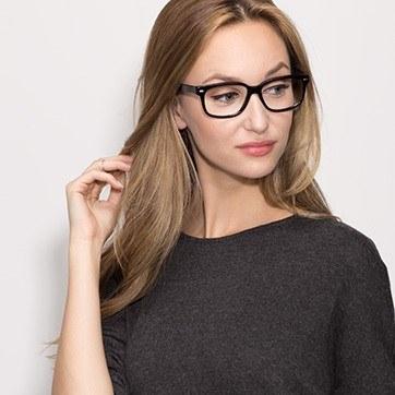 Black John -  Geek Acetate Eyeglasses - model image