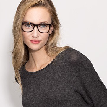 Tortoise Sam -  Geek Acetate Eyeglasses - model image