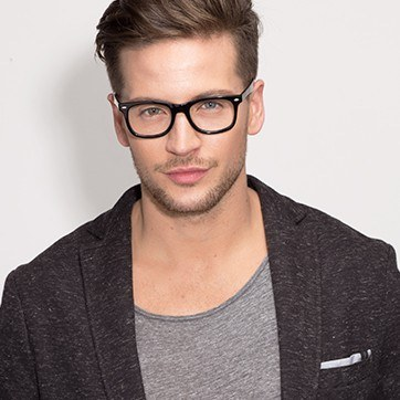 Black Sam -  Geek Acetate Eyeglasses - model image