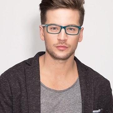Teal Mandi -  Classic Acetate Eyeglasses - model image