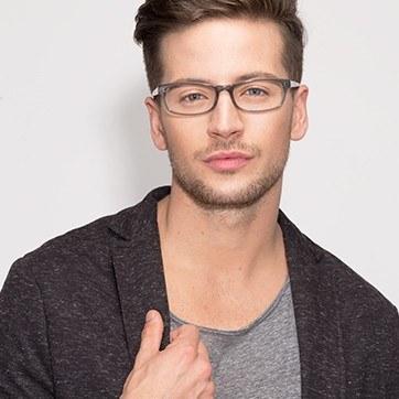Gray Opal -  Fashion Acetate Eyeglasses - model image