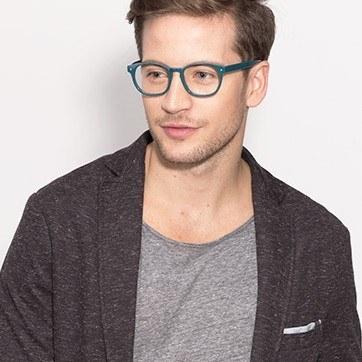 Green Midnight -  Fashion Acetate Eyeglasses - model image