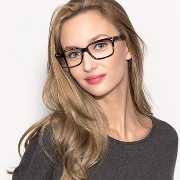 Tortoise John -  Classic Acetate Eyeglasses - model image