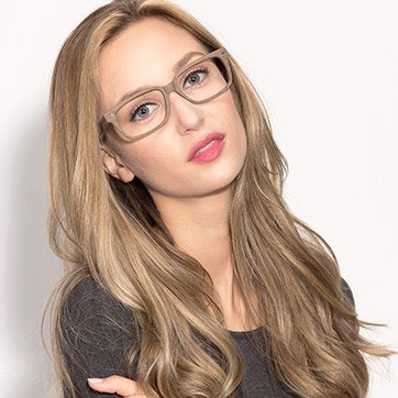 Brown/Striped John -  Classic Acetate Eyeglasses - model image