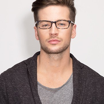 Tortoise Opal -  Fashion Acetate Eyeglasses - model image