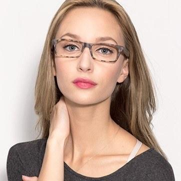 Matte Tortoise Cambridge -  Fashion Plastic Eyeglasses - model image